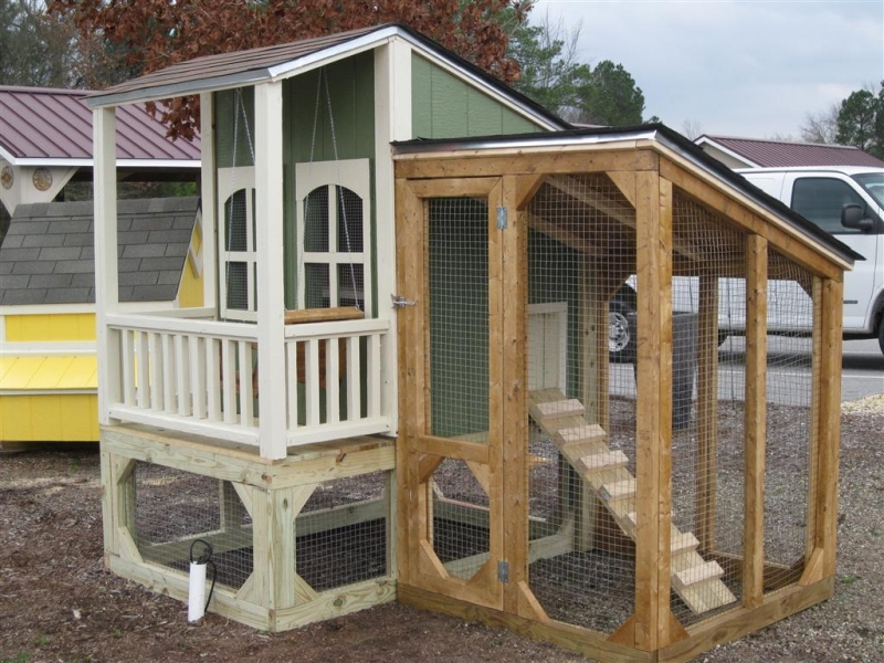 Western coop with a porch and swing
