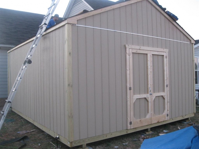 16x20 gable shed with a hurricane package